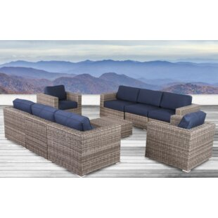 Longshore Tides Lue 8 Piece Sunbrella Sectional Set with Cushions