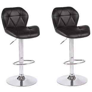 Cierra Adjustable Height Swivel Bar Stool (Set Of 2) by Mercer41 Best Choices