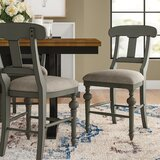 Sandbach 24 Back Side Chair in Weathered Gray (Set of 2) by Three Posts