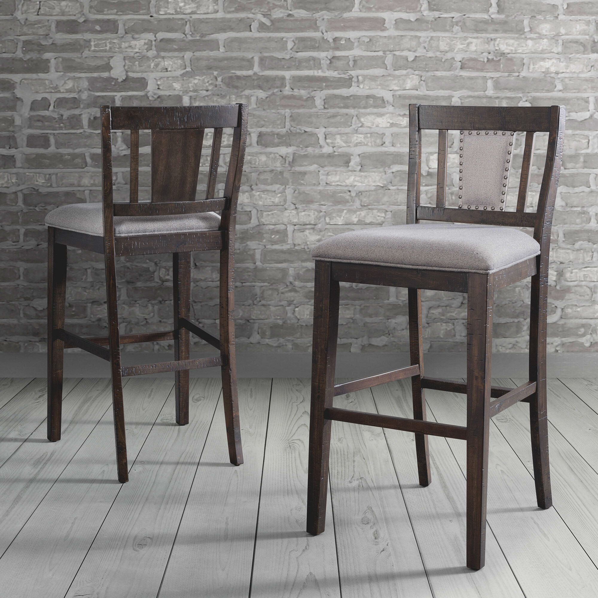 Image of: Foti Slat Back 30 Bar Stool Reviews Birch Lane