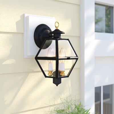 Estevan Metal 2-Light Outdoor Wall Lantern Sol 72 Outdoor