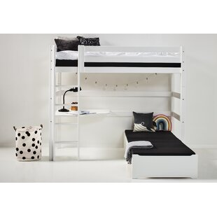 Premium European Single L-Shaped Bunk Bed With Trundle And Desk By Hoppekids