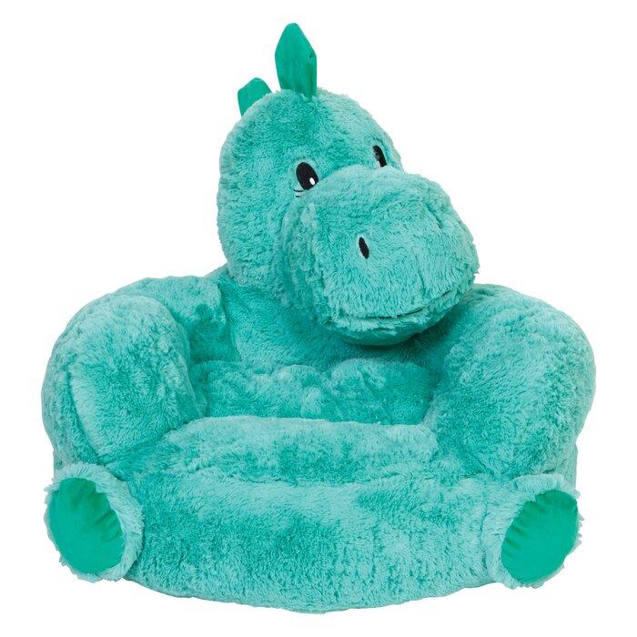 Phenomenal Tinnin Childrens Plush Dinosaur Character Faux Fur Chair Ibusinesslaw Wood Chair Design Ideas Ibusinesslaworg