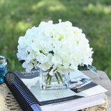 Hydrangea Floral Arrangement in Vase by House of Hampton®