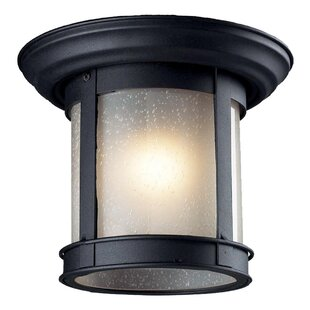 Breakwater Bay Crosstown 1-Light Flush Mount