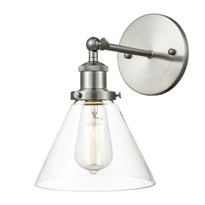 Light Society Cruz Corneau 1-Light Armed Sconce Finish: Satin Nickel
