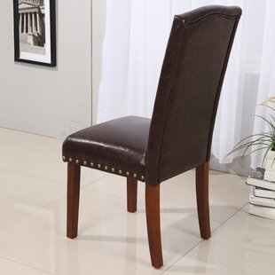 Castilian Leather Upholstered Dining Chair (Set Of 2) by NOYA USA 2019 Sale