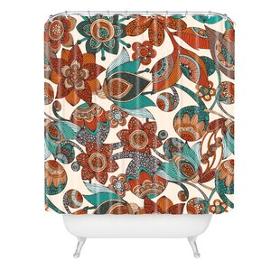 Low priced Valentina Ramos Lucy Flowers Shower Curtain By East Urban Home