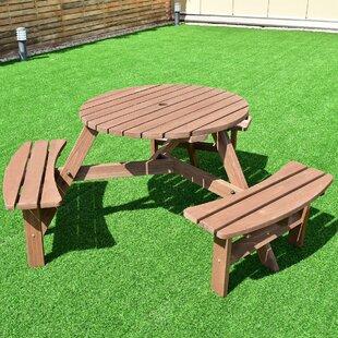 Zinnia Patio Wood Picnic Table