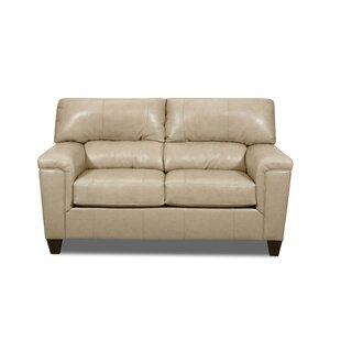 Savings Coury Leather Loveseat by Winston Porter Reviews (2019) & Buyer's Guide