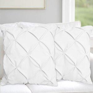 Hudson Pinch Pleat Pintuck Throw Pillow (Set of 2)