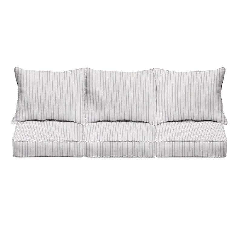 Mozaic Company Sunbrella Scale Cloud Indoor Outdoor Sofa Cushion Set Set Of 6 Wayfair