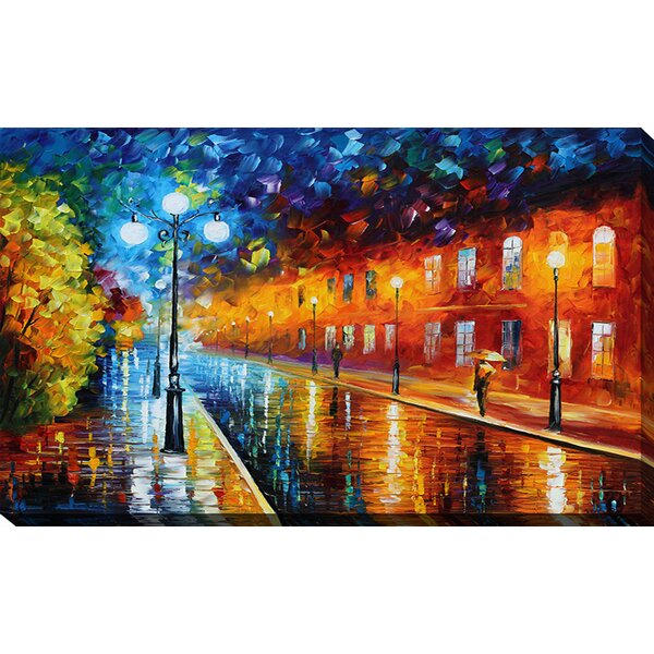 Pictureperfectinternational Lights By Leonid Afremov Painting Print On Wrapped Canvas Wayfair