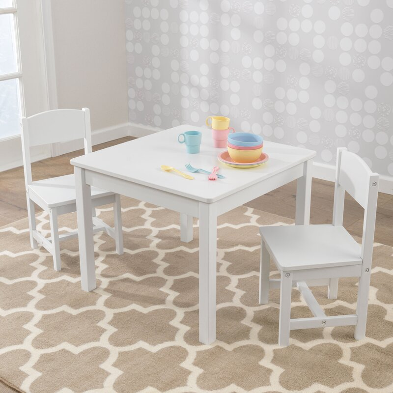 Aspen Kids 3 Piece Table And Chair Set