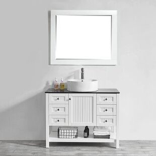 Nadler 42 Single Bathroom Vanity Set with Mirror