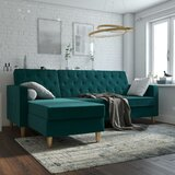 Liberty 84 Reversible Sleeper Sectional by CosmoLiving by Cosmopolitan