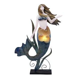 Highland Dunes Koa Mermaid Figurine 23