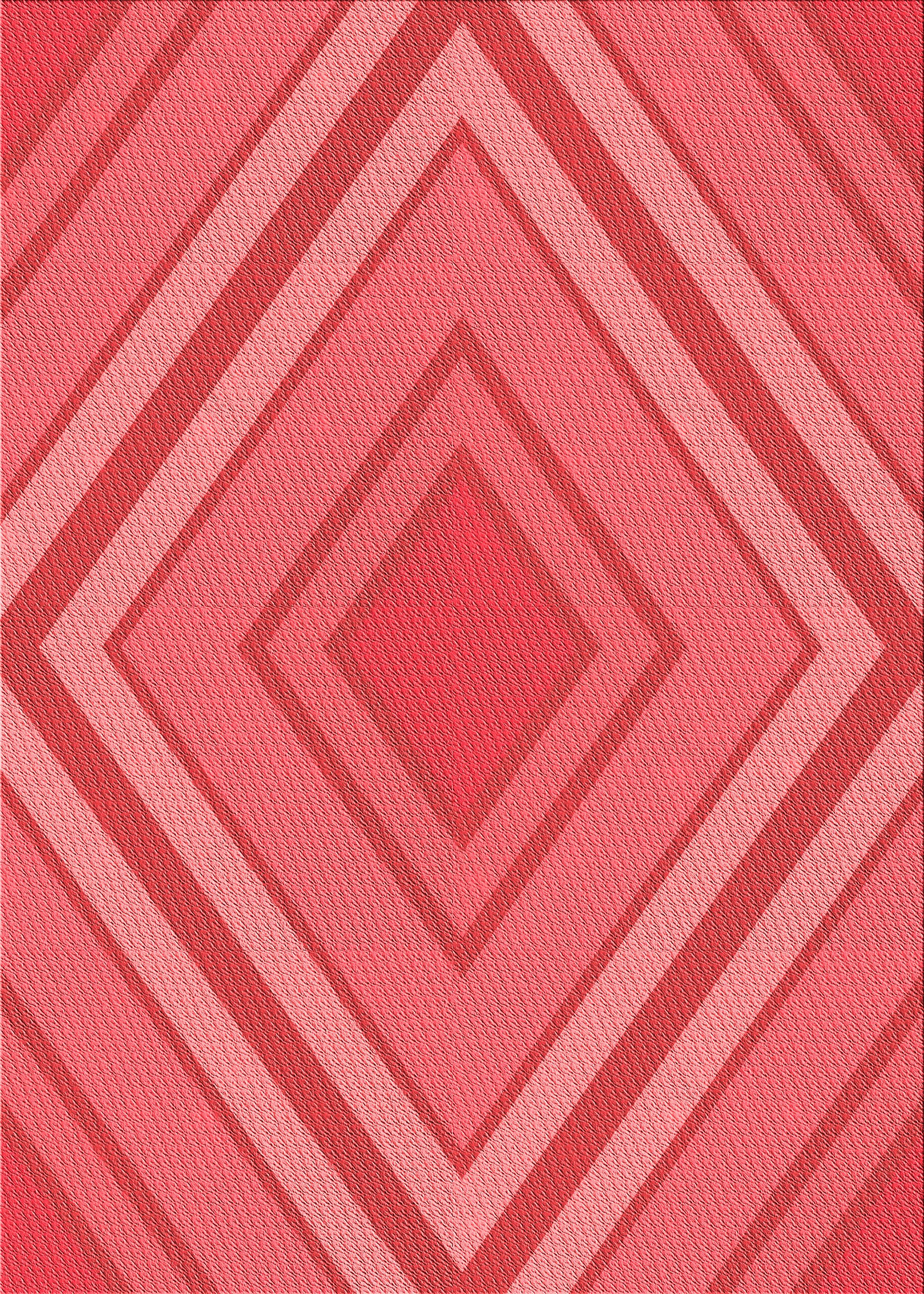 East Urban Home Comae Geometric Wool Red Area Rug Wayfair