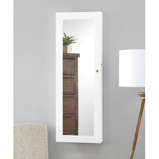 Massimo Mirrored Over the Door Jewelry Armoire with Mirror by Latitude Run