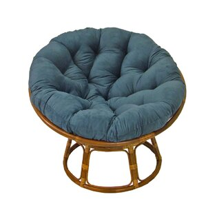 Decker Rattan Papasan Chair by Beachcrest Home