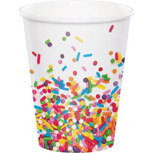 Confetti Sprinkles Paper Disposable Cup (Set of 24)
