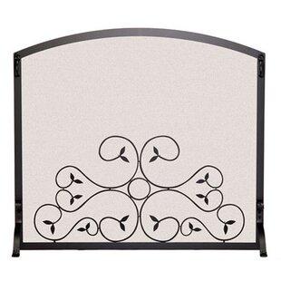 Single Panel Steel Fireplace Screen By Pilgrim Hearth