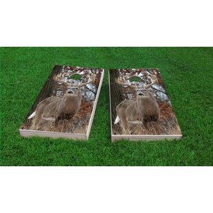 Custom Cornhole Boards Tail Deer Buck Cornhole Game Set