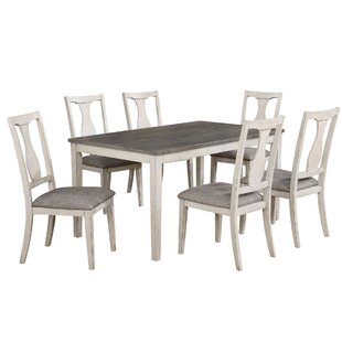 Surrey 7 Piece Solid Wood Dining Set Ophelia & Co.