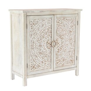 Sydni Traditional Carved Design 2 Door Accent Cabinet