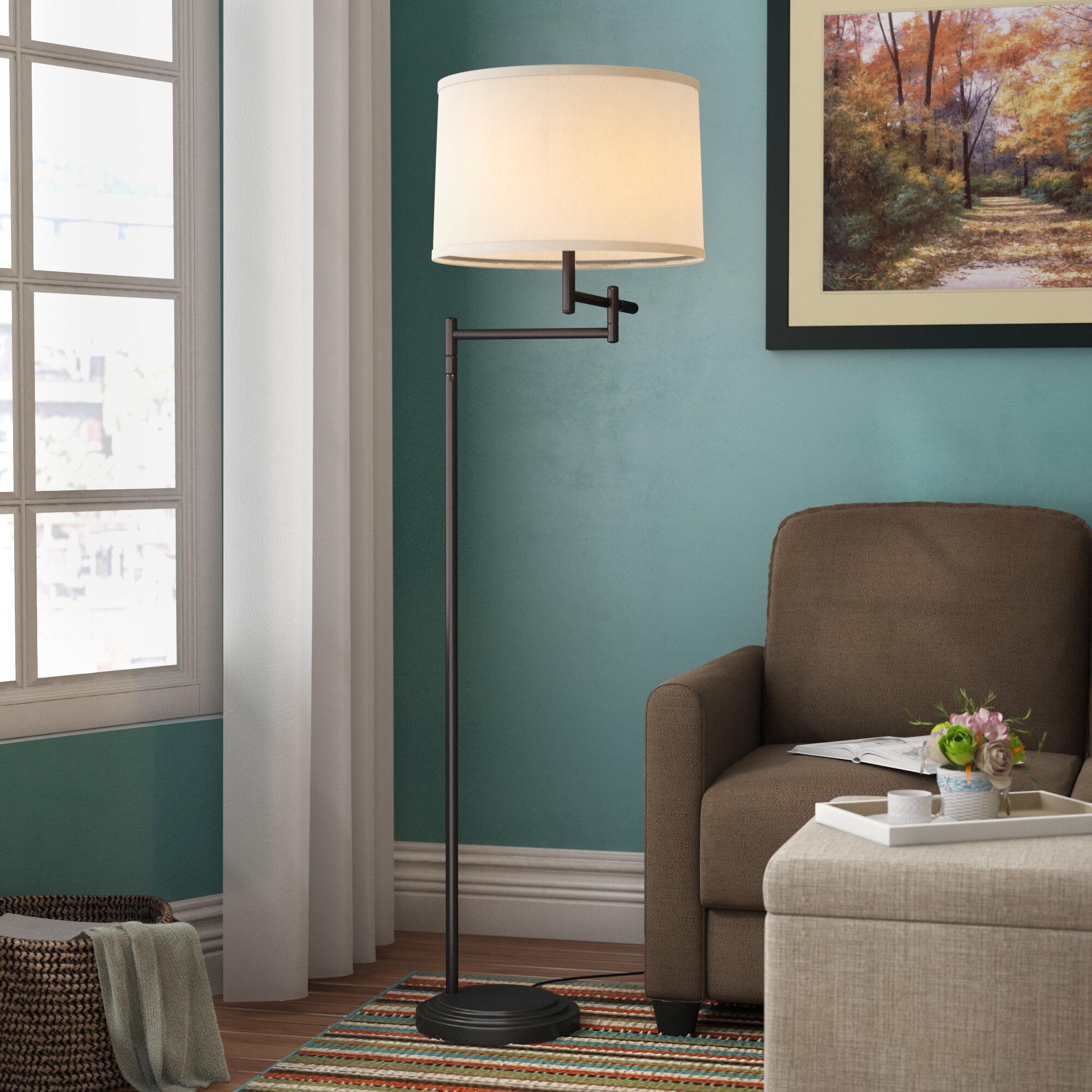 Andover Mills Lilo 59 5 Swing Arm Floor Lamp Reviews Wayfair Ca