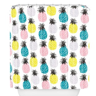 Pineapple Pastel Single Shower Curtain