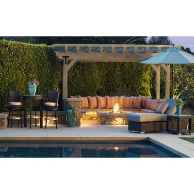 Signature 3 Piece Dining Set Patio Heaven Cushion Color: Sierra