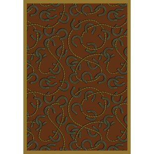 Inexpensive Brown/Black Area Rug ByThe Conestoga Trading Co.