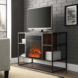 Ibrahim TV Stand for TVs up to 40 with Electric Fireplace