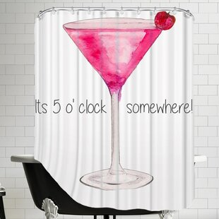 Alison B Cocktail Single Shower Curtain