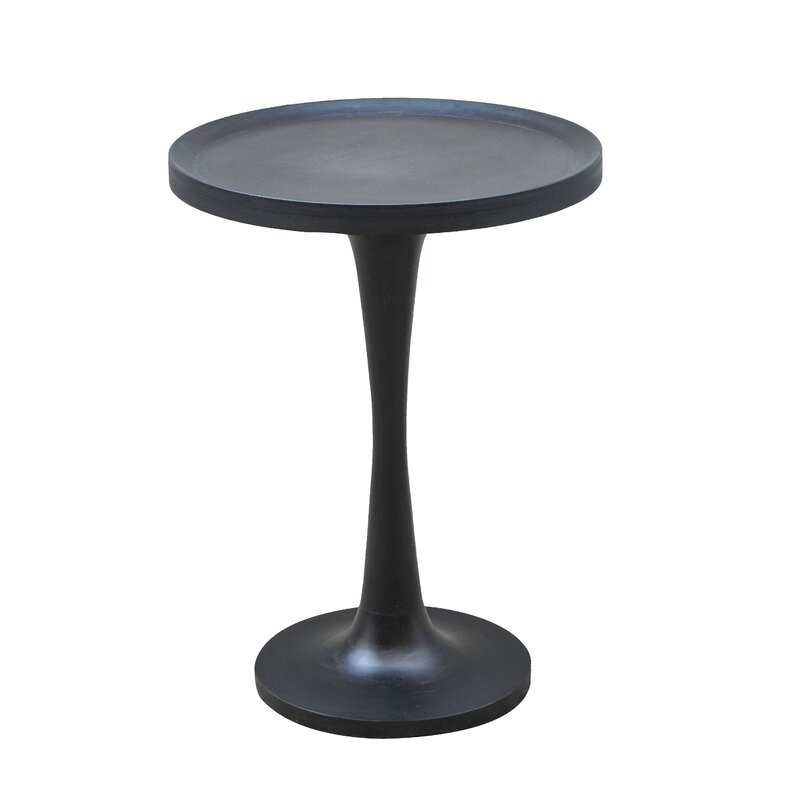 Gracie Oaks Timmons Solid Wood Pedestal Tray Top End Table Wayfair