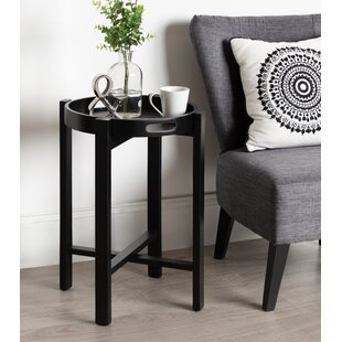 Orting Round Wooden Foldable Tray Table by Canora Grey