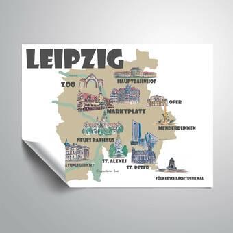 East Urban Home Leipzig Favorite Map Graphic Art Print Wayfair