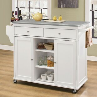 Krull Kitchen Cart with Stainless Steel Top by Alcott Hill