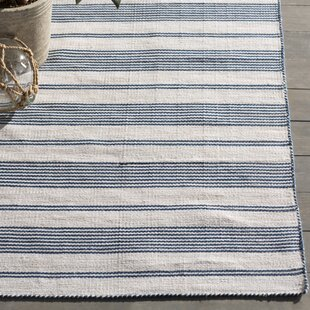 Alicea Blue/Cream Area Rug by Three Posts