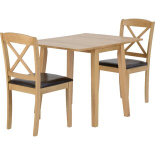Review Jaeden Extendable Dining Set With 2 Chairs