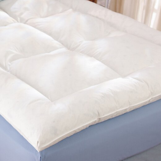 the twillery co. alcott down alternative fiber bed topper