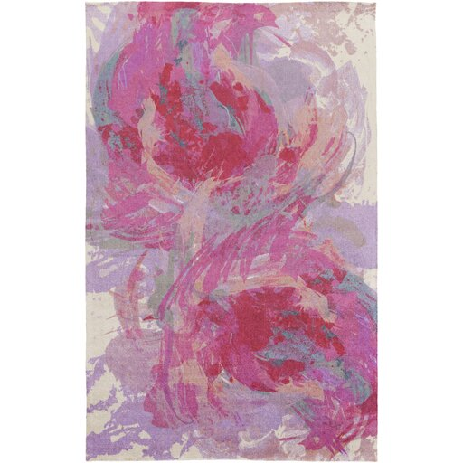 Latitude Run Donie Abstract Pink Purple Sky Blue Peach Area Rug Reviews Wayfair