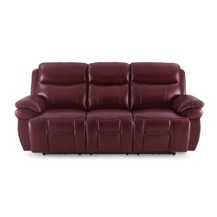 Jeanette Leather 3 Seater Reclining Sofa By Ebern Designs