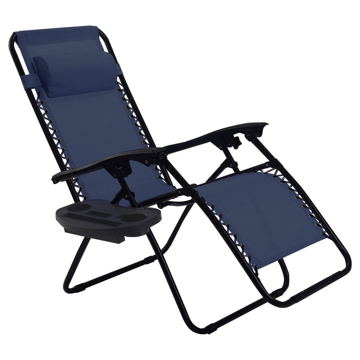 Picture of: Freeport Park 2 Pcs Folding Lounge Chair With Zero Gravity Wayfair Ca