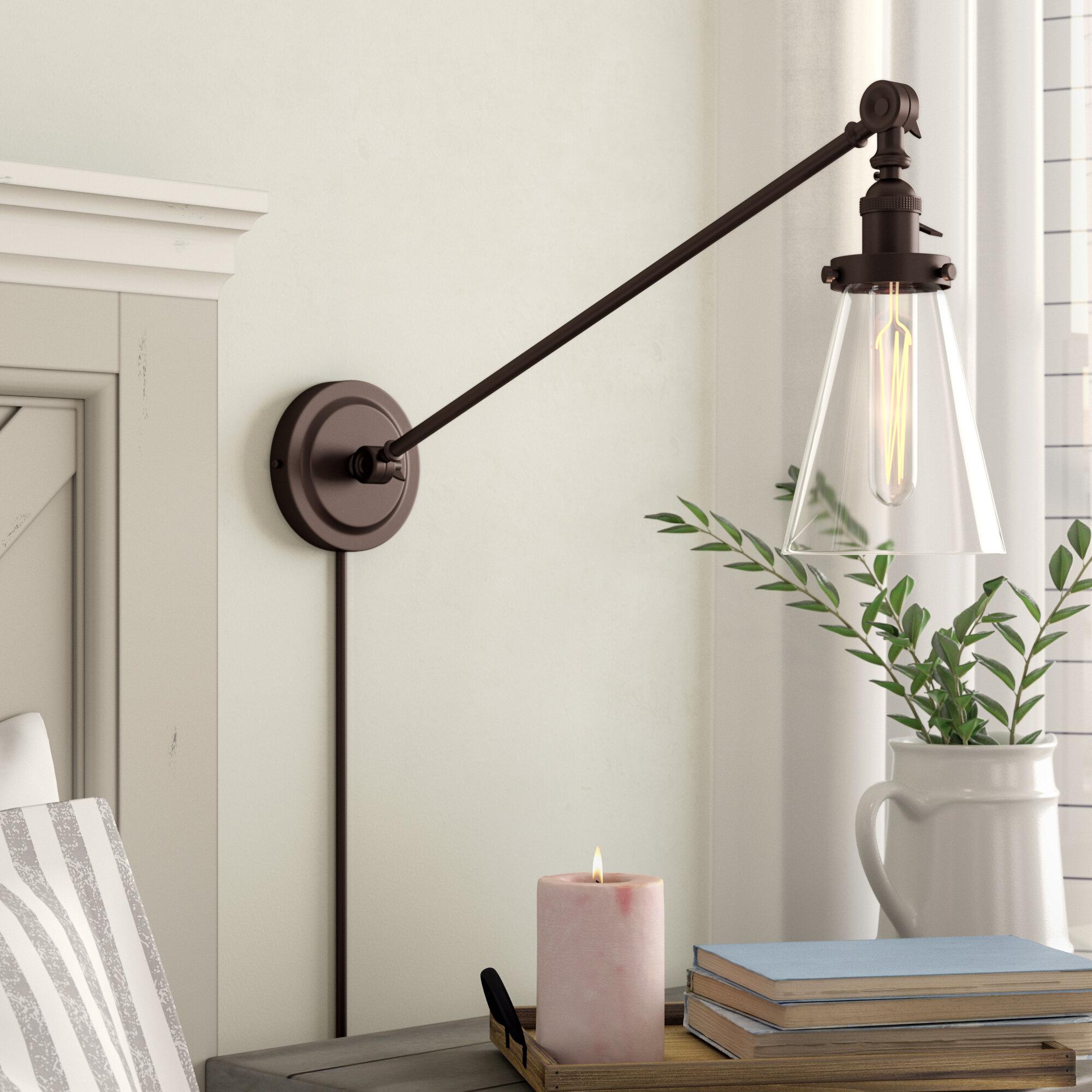 Gracie Oaks Martucci Double Swivel 1 Light Swing Arm Lamp Reviews Wayfair