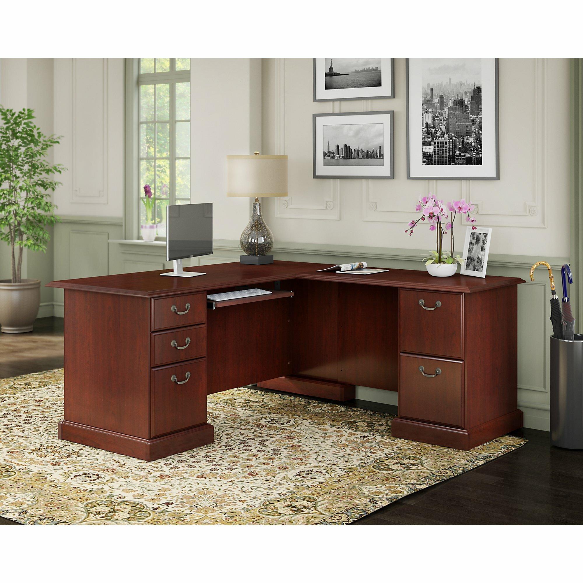 Kathy Ireland Office By Bush Bennington L Shaped Executive Desk Wiring Diagram