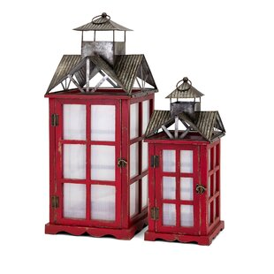 Homestead 2 Piece Metal Lantern Set