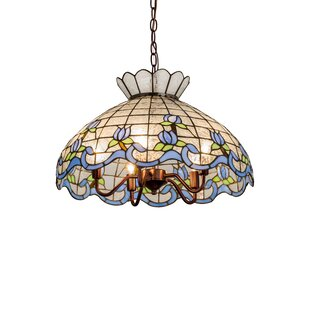 Meyda Tiffany Roseborder Ice 5-Light Bowl Pendant