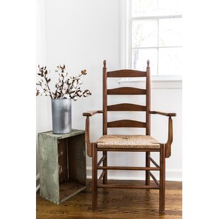 Sylvester Ladderback Solid Wood Dining Chair by August Grove